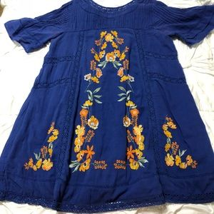 Free People Perfectly Victorian Dress Blue Size M